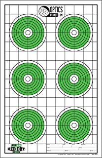 EZ2C Targets Red Dot Optics Style 6, Green and Black Ink on White Paper, 25 EZ2CRD06