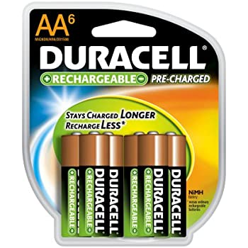 Hitech 6-Pack Rechargeable AA Batteries Ni-Mh 1.2V