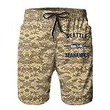 VF LSG Seattle Seahawks Men Swim Trunks,Quick Dry Beach Short...