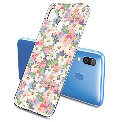 Suhctup Compatible pour Samsung Galaxy J5 Prime / ON5 2016 Coque Silicone Transparent Ultra Mince Étui avec Clear Mignon Fleurs Motif Design Housse Souple TPU Bumper Anti-Choc Protection Cover,A2