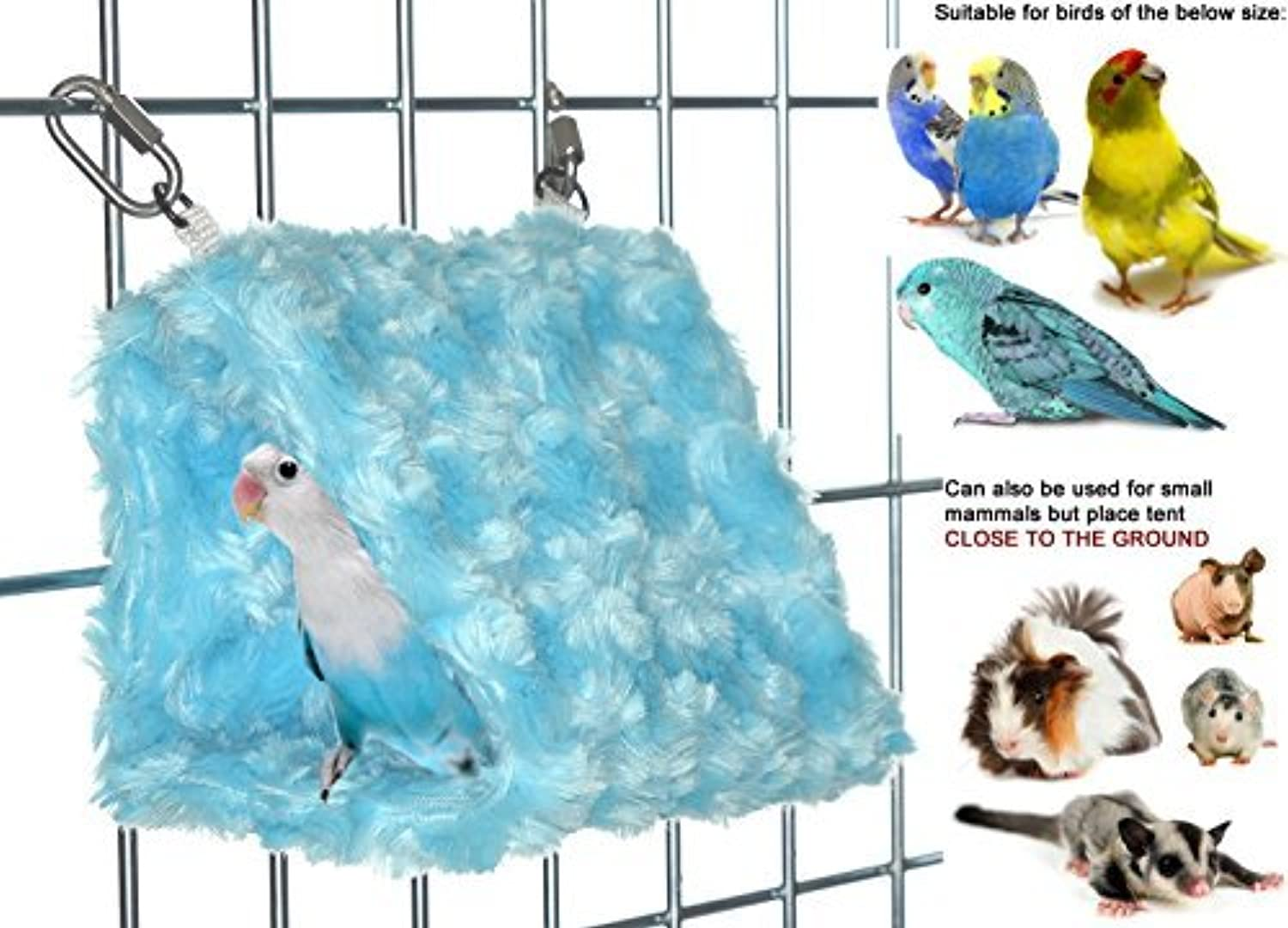Cozy Small Bird Tent Hideaway  Made in the USA (Sky bluee, Single Tent) by Avianweb