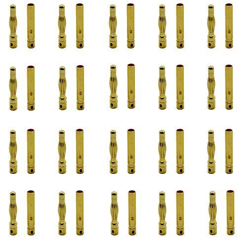20 Pares Gold Plated 4.0 mm Bala Banana Dorado Macho Hembra Enchufe Conectores Adaptador para Motor ESC Batería Lipo