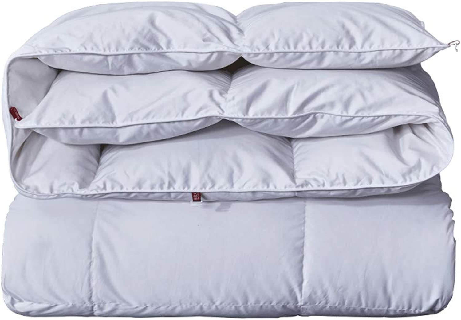 Quilt White Thicken Warm and Soft for All Season All-Season Quilted Comforte Rhypoallergenic 100% Cotton Fabrics Quilted Comforter with Corner Tabs (Size   150cmx200cm2.5kg)