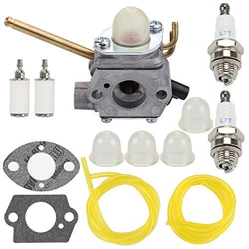 Mannial 308028007 Carburetor Carb fit Homelite UT08520 UT08550 UT08921 UT08951 26CC Gas Mightylite Leaf Blower with Fuel Filter & Gaskets -  Hipa, 12520013120,12520013121,12520013122,12520013123