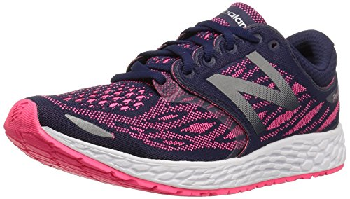 New Balance Women's Zantev3 Running Shoe, Dark Denim/Alpha Pink, 5 D US