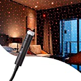 Sound USB Star Light, Rekeen USB Night Light Sound Activated Strobe Light,Adjustable Romantic Red Interior Car Lights, Portable Auto Roof Lights Decoration for Car, Ceiling, Bedroom, Party