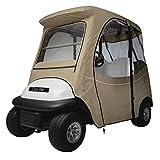 Classic Accessories Fairway Golf Cart FadeSafe Enclosure For Club Car, Short Roof, Khaki