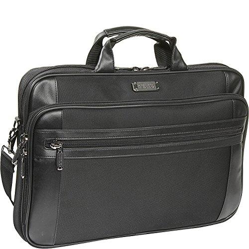 "Kenneth Cole Reaction 18.4"" Slim Top Zip Laptop Portfolio Laptop Bag, Black"