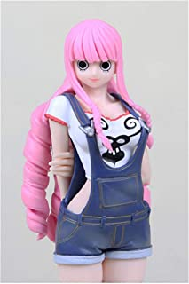 Wsjdmm One Piece Perona Beautiful Sexy Jeans Perona Ghost Princess PVC Hand Model Doll Ornaments Birthday Gift Beautiful Boxed 18cm High