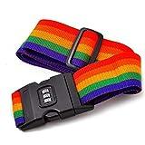 Práctico cinturón de Equipaje de Viaje al Aire Libre de tamaño portátil, Correa de Embalaje, Maleta, cinturón de...