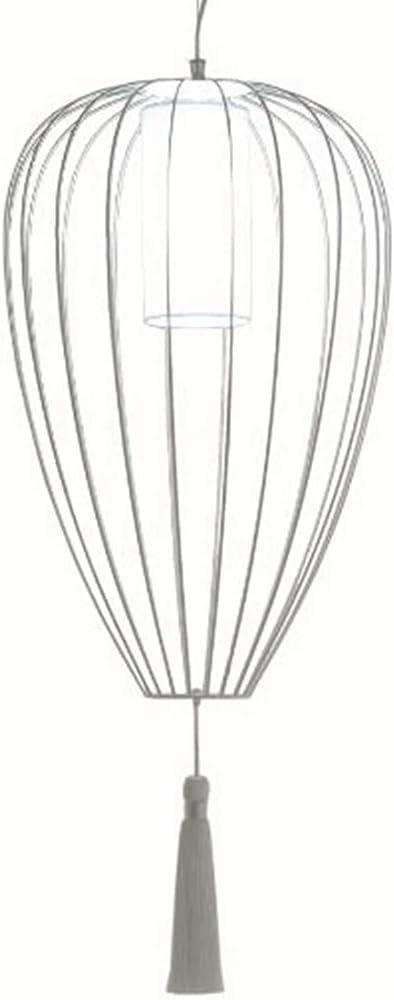 Karman cell, lampada a sospensione Ø55 cm, con rete in  filo metallico bianco lucido SE615B