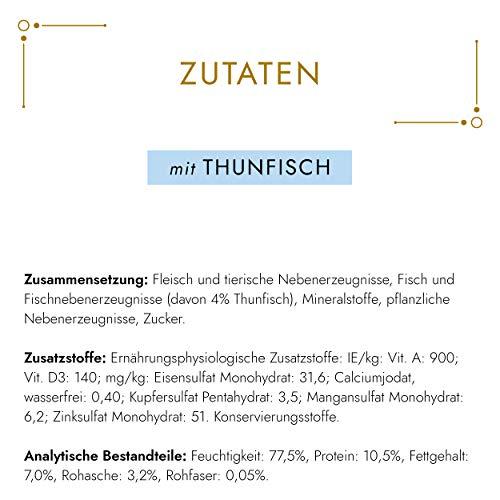 Gourmet Gold Katzenfutter Feine Pastete mit Thunfisch, 12er Pack (12 x 85 g) Dosen - 5