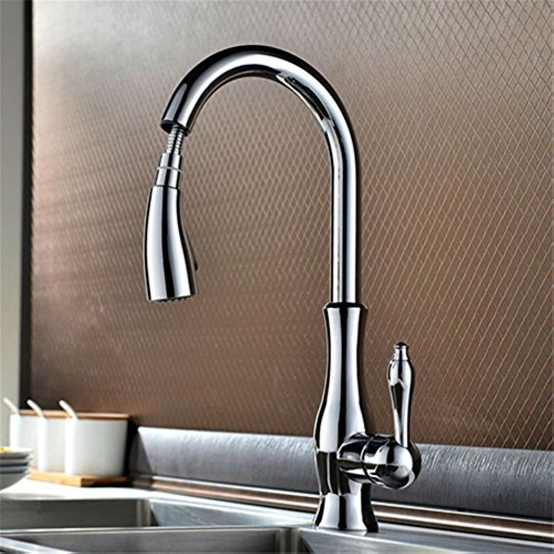 NewBorn Faucet Wasserhhne Warmes und Kaltes Wasser groe Qualitt der Küche Voller Messing Chrom Ziehen Wasser Mischventil einziehbaren Spüle Spüle Mischbatterie