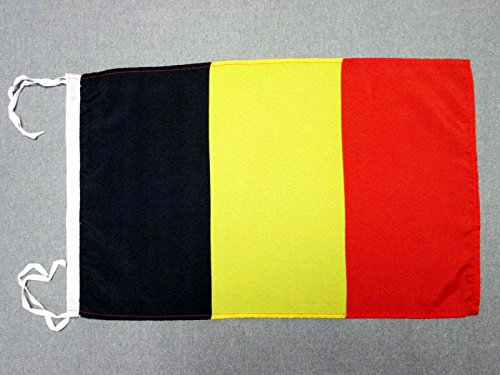 AZ FLAG Flagge Belgien 45x30cm mit Kordel - BELGISCHE Fahne 30 x 45 cm - flaggen Top Qualität