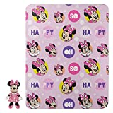 Disney Minnie Mouse So Dotty Character Pillow and Fleece Throw Blanket Set, 40' x 50'