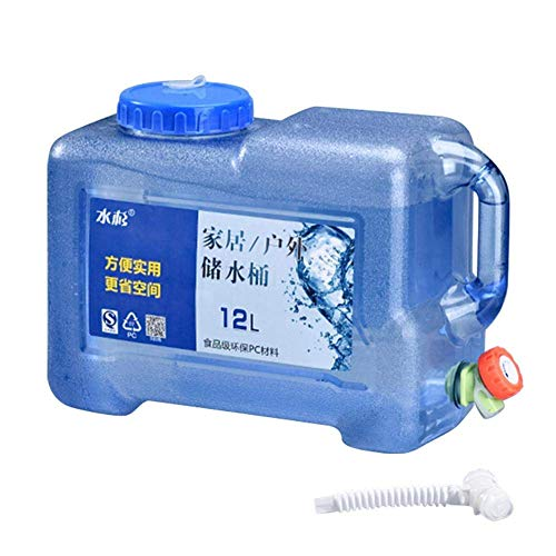 ADDG Bidón de agua de 5 litros y 12 l, para el exterior, para el coche, con grifo, para el hogar