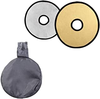 EORTA 2 in 1 Photography Photo Reflector Collapsible Disc Light Reflector Portable Hollow Light Diffuser DSLR Light Lens-M...
