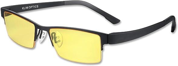 KLIM Optics - عینک مسدود کننده نور آبی - کاهش لکه های چشم و خستگی - عینک بازی بلوکر بلو آبی PC Mobile gamer - محافظت بالا برای صفحه نمایش و اشعه ماوراء بنفش - عینک بلوک آبی خواندن رایانه