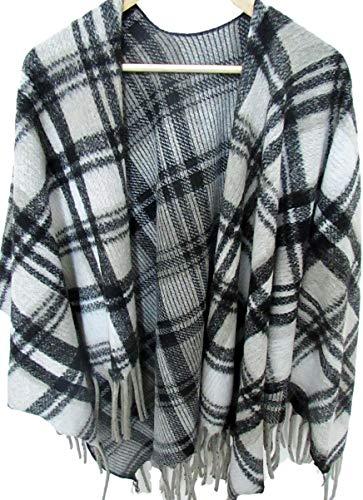 Alpenwolle Damen Poncho, Cape, Schal XXL, Tunika, Umhang 100% Wolle