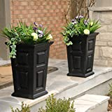 24' Tall Black Planter 2-pack
