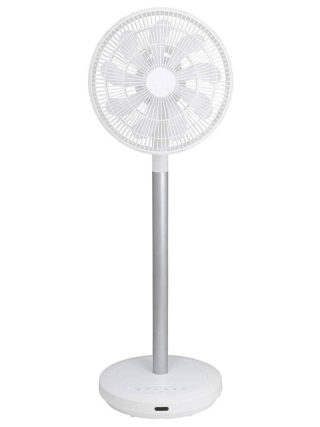 ストレス共産主義布【Amazon.co.jp限定】山善 扇風機 アレクサ(ALEXA)対応 30cm リビング扇 静電式タッチスイッチ 風量8段階調節 室温センサー DCモーター搭載 リモコン付き ホワイト AHX-ALD30(W)