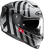 HJC Casque Moto RPHA 70 Forvic MC5, Noir/Blanc, Taille S