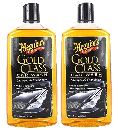 Meguiar's 2X MEGUIARS Gold Class Shampoo Autoshampoo Autopflege 473 ml