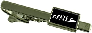 Select Gifts Evolution Ape to Man Jet Ski Gold-Tone Cufflinks Engraved Message Box
