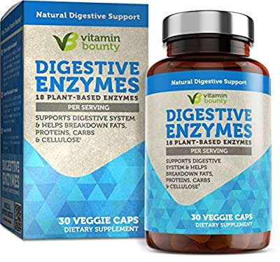 Digestive Enzymes - Immune Support & Gut Health 18 Plant Based Enzymes for Digestion