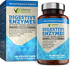 Digestive Enzymes - Immune Support & Gut Health 18 Plant Based Enzymes for Digestion - Vitamin Bounty