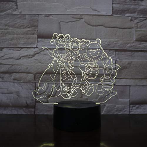 Springende Tigerfreunde der großen Familie der Karikatur kleine Nachtlampenfarbtabellenlampen-Inneneinrichtungskinder