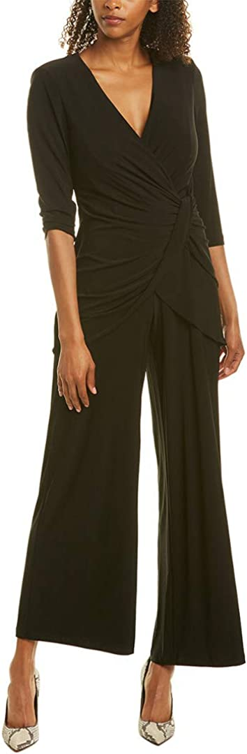 Adrianna Papell Women's Fees free!! Jersey Long Sleeve Store Jumpsuit