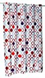 Carnation Home Fashions EZ On Duschvorhang, ohne Haken, 178 x 213 cm X-Long Bunt