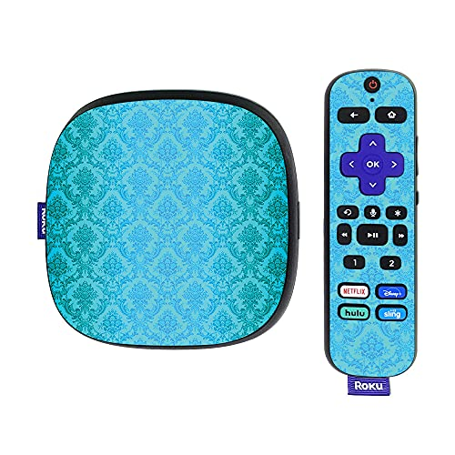 MightySkins Skin Compatible with Roku Ultra HDR 4K Streaming Media Player (2020) - Blue Vintage | Protective, Durable, and Unique Vinyl Decal wrap Cover | Easy to Apply and Change Styles | Made in th