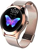 Lloow Women Smartwatches, Women Smart Watch Heart Rate Waterproof Fitness Smartwatch for Android iOS% Smartwatches 2021,B