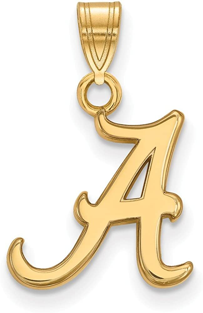 Solid 10k Yellow Gold Official Small University of Free Shipping New Alabama Penda Long-awaited