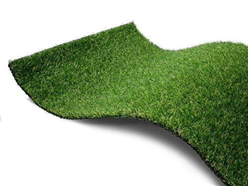Kunstrasen Rasen-Teppich Meterware - CAMELLIA, 2,00m x 4,00m, Hochwertiger, UV-Beständiger, Wasserdurchlässiger Outdoor Bodenbelag für Balkon und Terrasse
