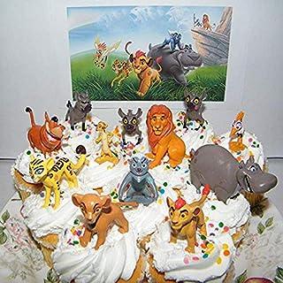Cake Decorating Supplies - 12pcs/set Cake Toppers The Lion Guard King Kion Simba Figures Bunga Beshte Fuli Ono Cupcake Dec...