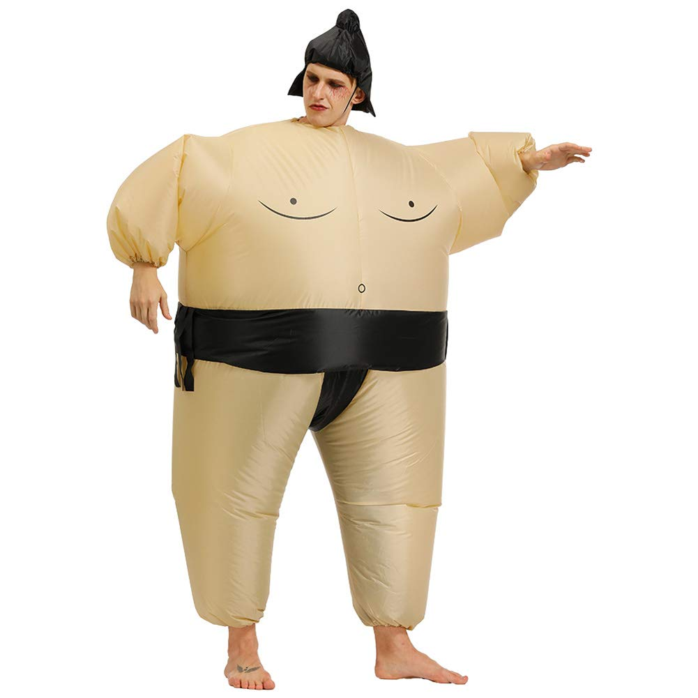 MOTOULAX Disfraz de Sumo Inflable, Disfraz Inflable Sumo Wrestler ...
