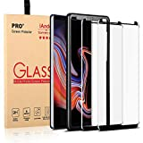 iAnder [2-Pack] Galaxy Note 9 Glass Screen Protector [Easy Installation Tray], 3D Curved [Tempered Glass] Screen Protector for Galaxy Note 9 [Case Friendly]