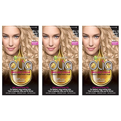 Garnier Hair Color Olia Oil Powered Permanent Hair Color, 9 1/2.1 Lightest,Pack of 3 (Packaging May Vary)