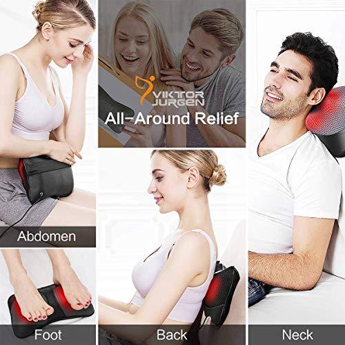 VIKTOR JURGEN cou coussin de massage shiatsu profond pétrissage épaule dos et massage des pieds...