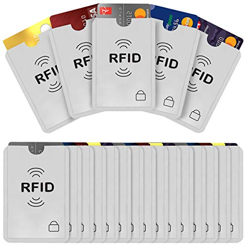 FAMKIT Lot de 20 étuis de protection RFID 20 étuis de protection pour cartes de crédit et cartes bancaires