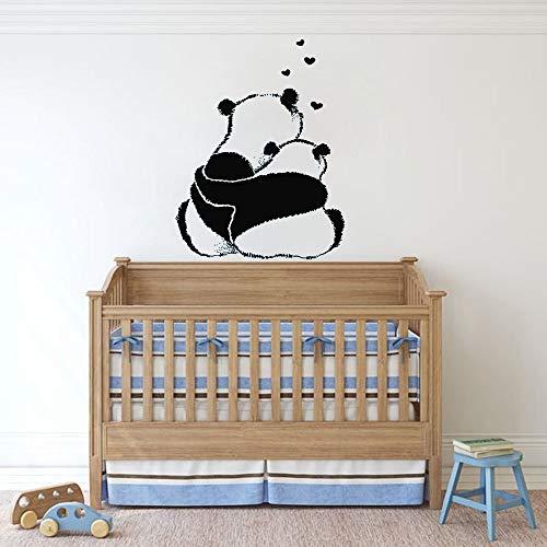 Lindo panda etiqueta de la pared vivero animal panda niños dormitorio decoración del hogar vinilo etiqueta de la pared lindo abrazo arte wallpaper