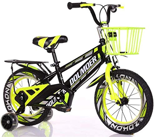 Leifeng Tower Lightweight, Kids Bike Child's Bicycle with Hummer Flash Training Wheels, 12' 14' 16' 18' Inch Boys/Girls Pedal Bikes for 3-6-9-Year-Old with Seat Stand and Basket Inventory Clearance