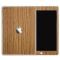 wraplus for iPad 第7世代 第8世代 [ゼブラウッド2] スキンシール 前面 背面 フィルム ケース 2020 2019