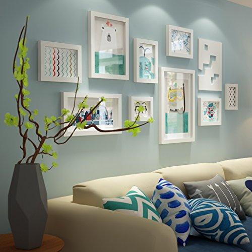 Hty xk Foto Wand Massivholz Trennwand Rahmen kreative Wohnzimmer TV Kombination dekorative Multi-Frame-rustikalen Stil Wand Hintergrund romantische Coole Junge Wohnzimmer Schlafzimmer Foto Wand