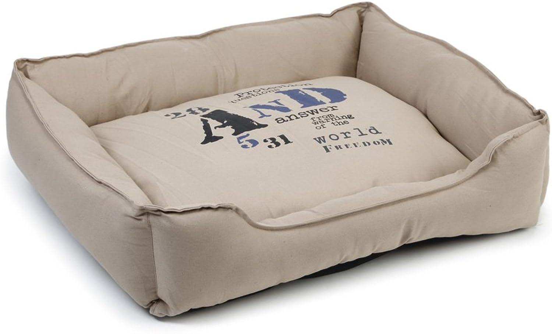 Beeztees Fonty Dog Rest Bed, 95 cm, Beige