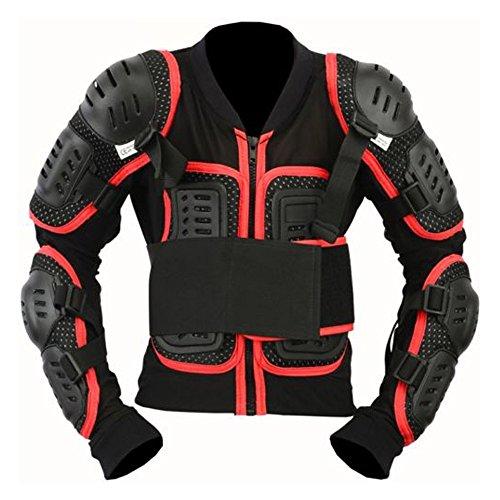 SPEED MAXX LTD Kinder Motorradschutzjacke Skorpion Rückenschutz CE Karosserieschutz Motorradjacke (10–11 Jahre) Rot