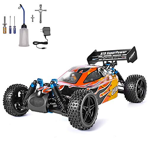 HSP 1:10 Scale High Speed 65km/h 4WD Off-Road RC Car 2.4Ghz Remote Control Truck,Radio Controlled Off-Road Racing Car Monster Truck RTR